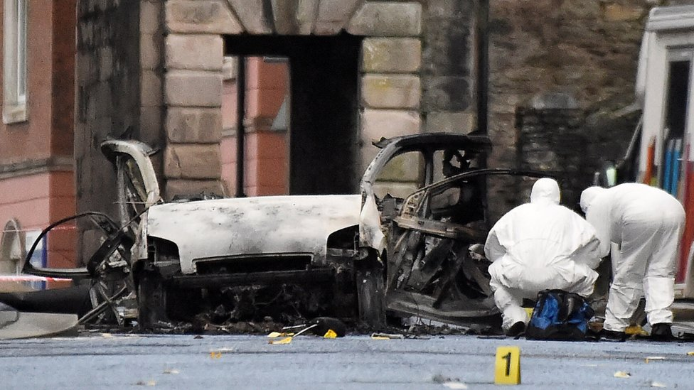 Saldırıda kullanılan araç hurdaya döndü