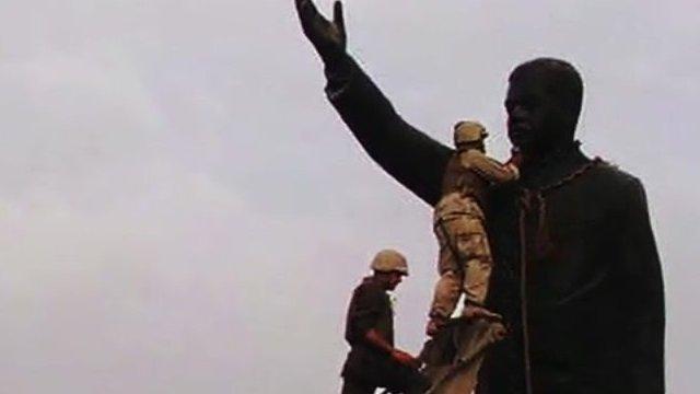Saddam Hussein statue