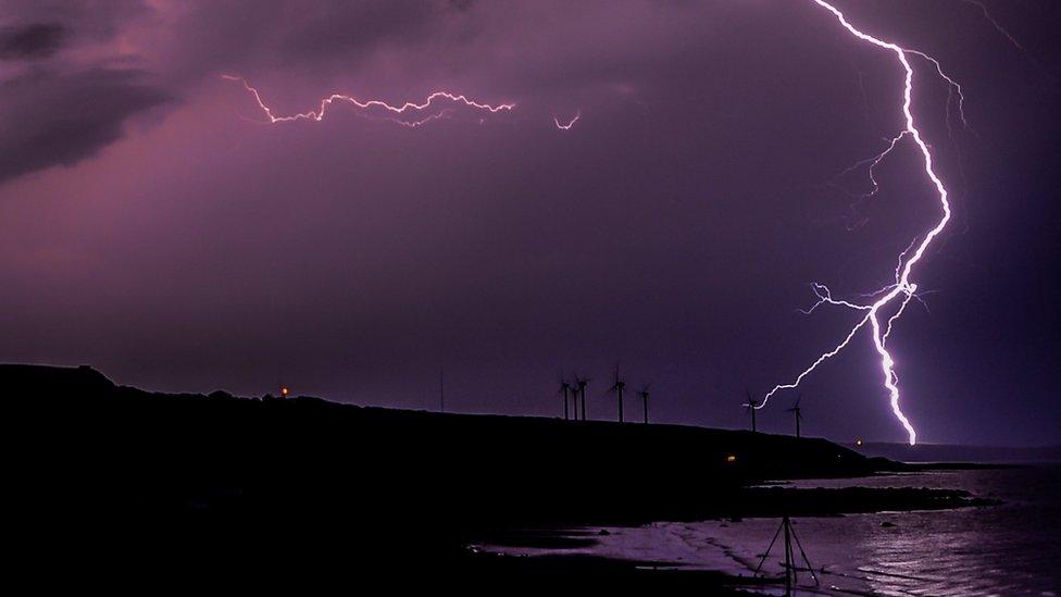 Lightning over Whitehaven