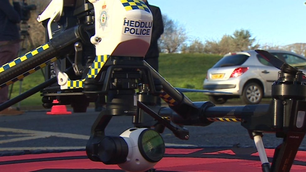 The North Wales Police drone