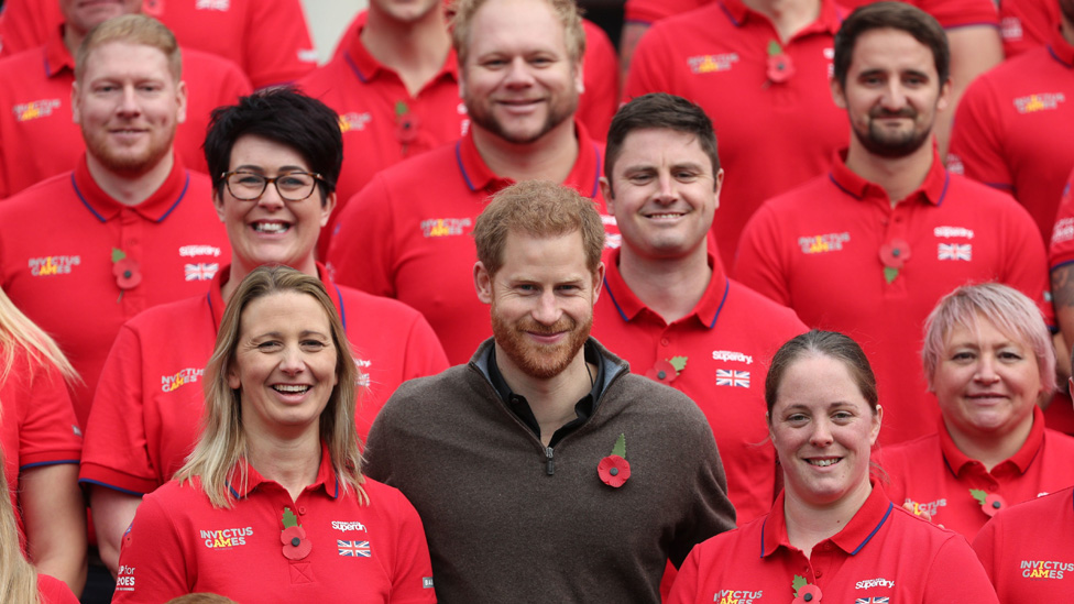 Duke of Sussex with competitors