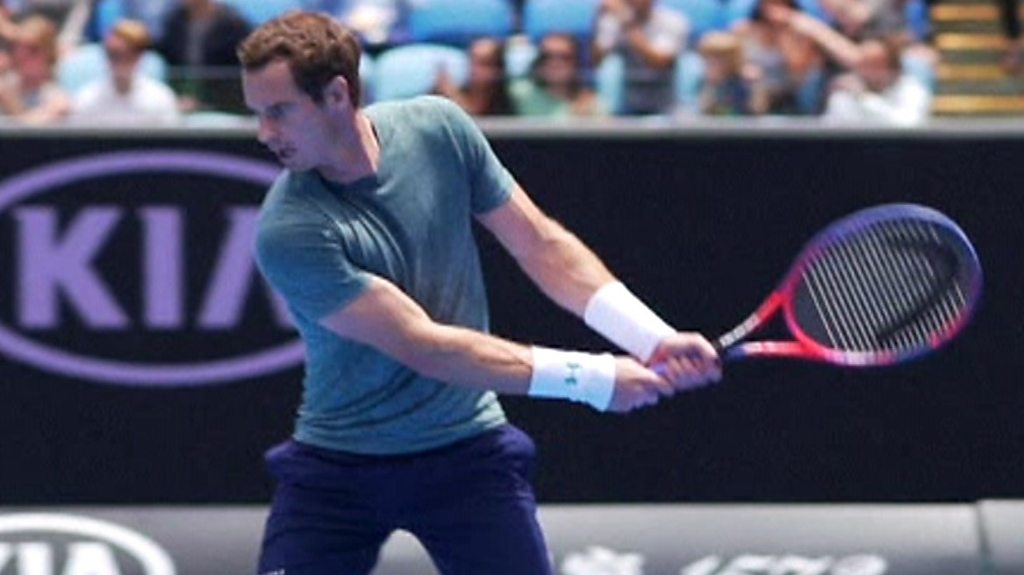 Watch: Andy Murray plays Novak Djokovic in Australian Open practice