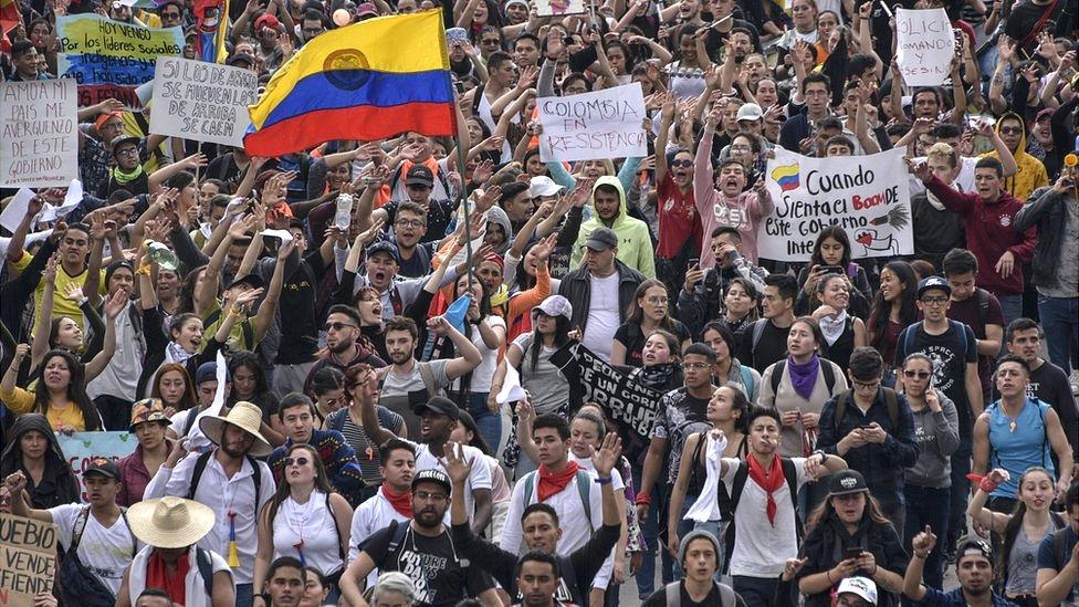Marchas en Colombia