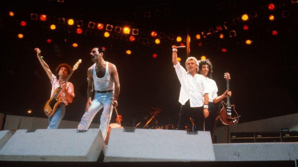Queen en Wembley, 1985.