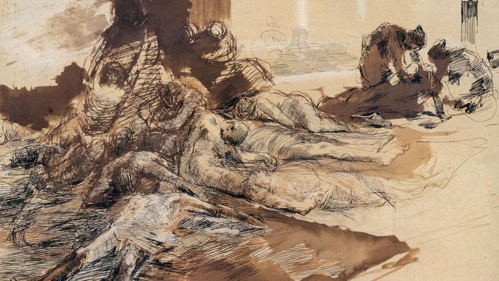 Ilustración de los efectos de la peste