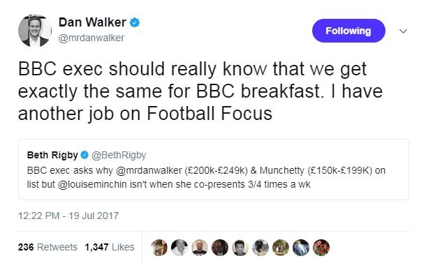 Dan Walker tweet