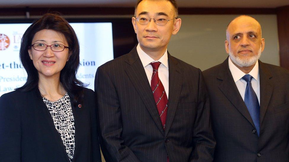 現任律師會會長彭韻僖(圖左)被視為親建制派。(資料圖片)