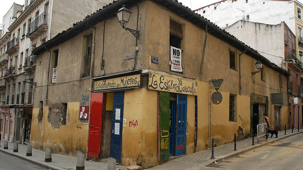 Casa okupa Eskalera Caracola en Madrid, España