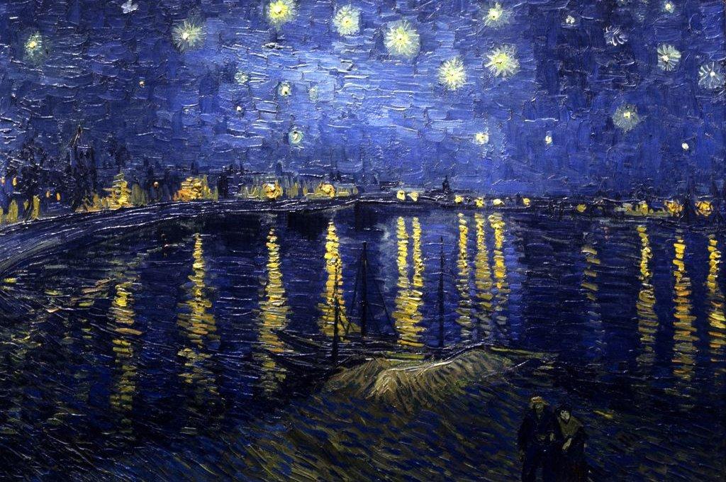Noche estrellada sobre el Ródano. Vincent Willem van Gogh, 1888.