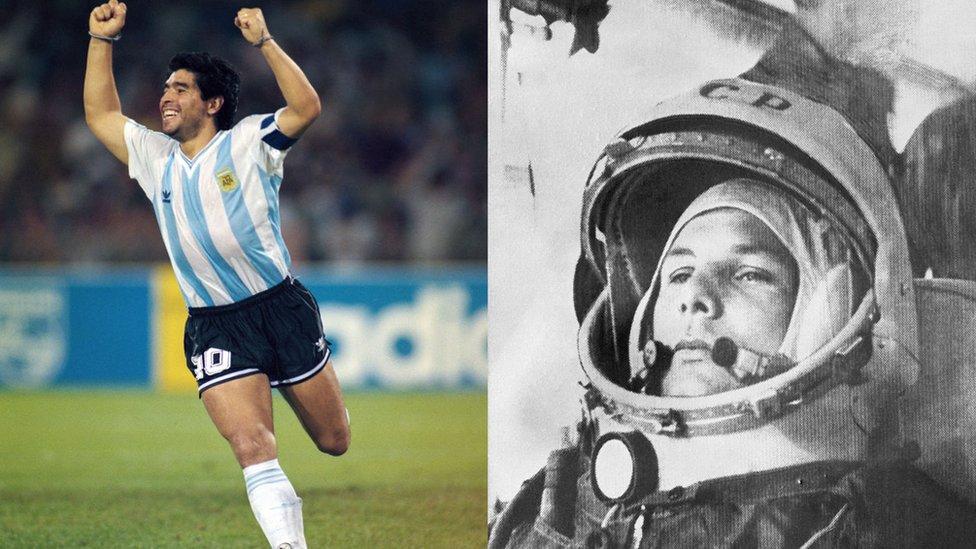 Maradona y Yuri Gagarin: