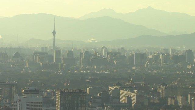 Smog in Beijing, China