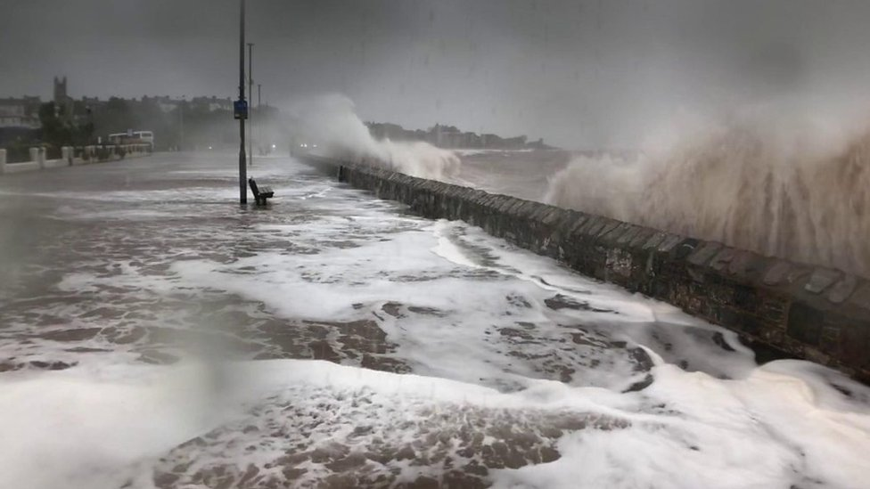 Storm Callum: Flood defences fail and homes without power