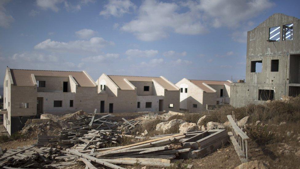 جانب من عمليات الاستيطان الإسرائيلية في الضفة الغربية