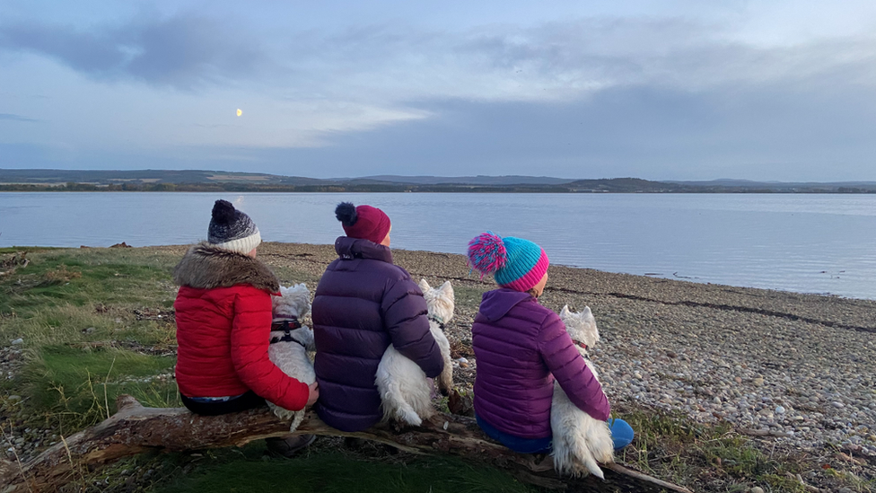 Six having a seat at Findhorn Bay, sent in by Matt Powell.