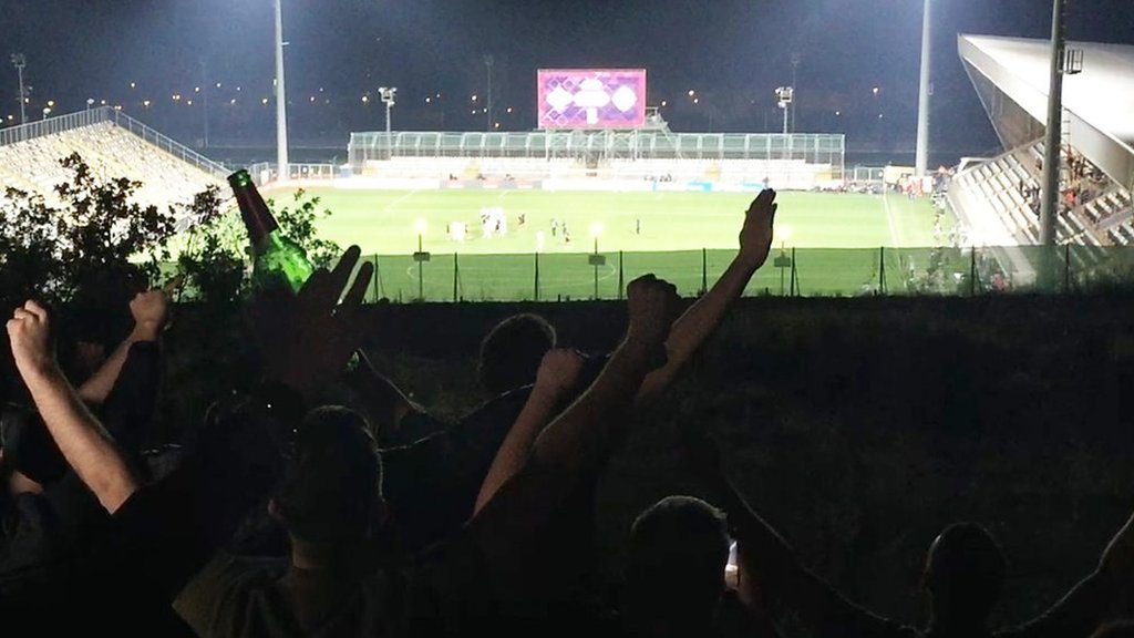 Croatia v England - meet the fans who travelled 1,000 miles for behind-closed-doors game