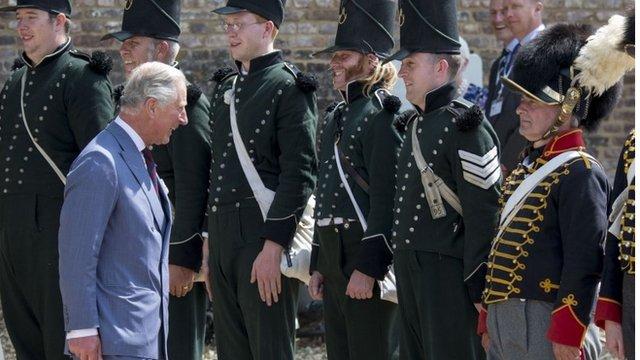 Prince Of Wales visits the Battlefield on June 17, 2015 in Waterloo, Belgium