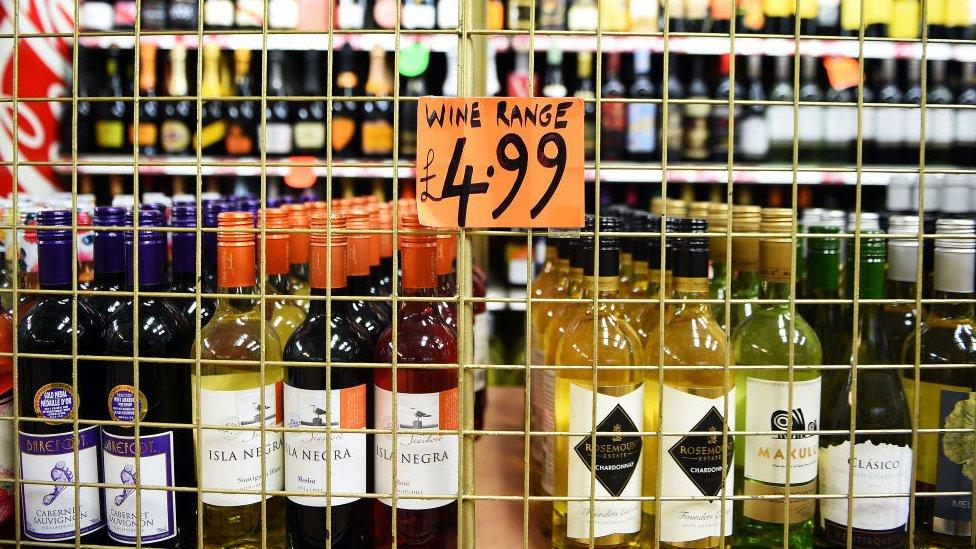 Botellas de bebidas alcohólicas