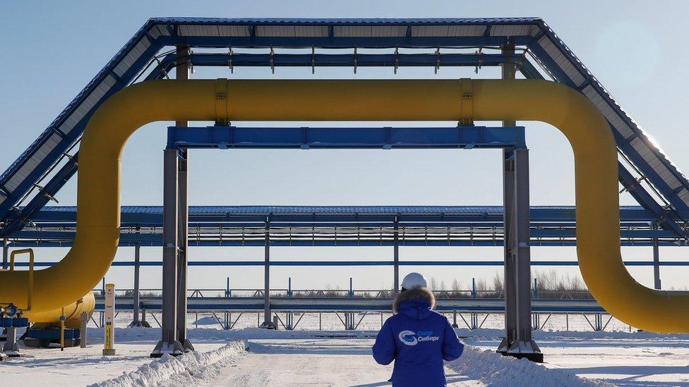 Parte del gasoducto Fuerza de Siberia