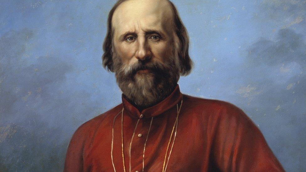 Garibaldi en camisa roja