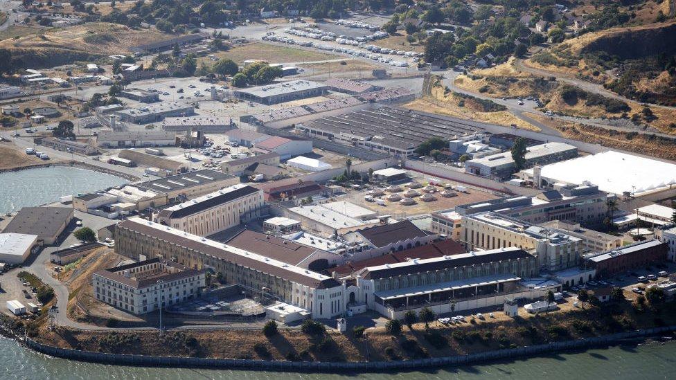 Vista aérea de la prisión de San Quentin en California.
