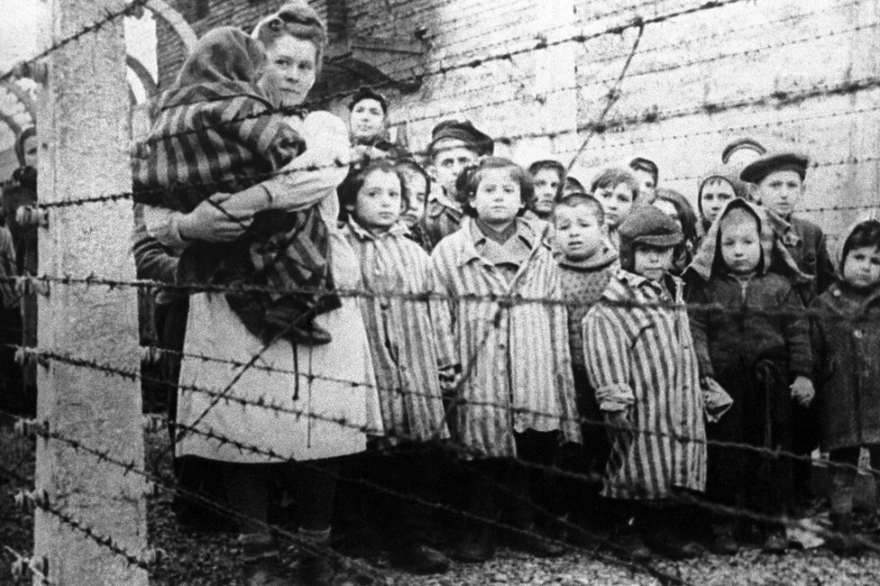 Children in a concentration camp