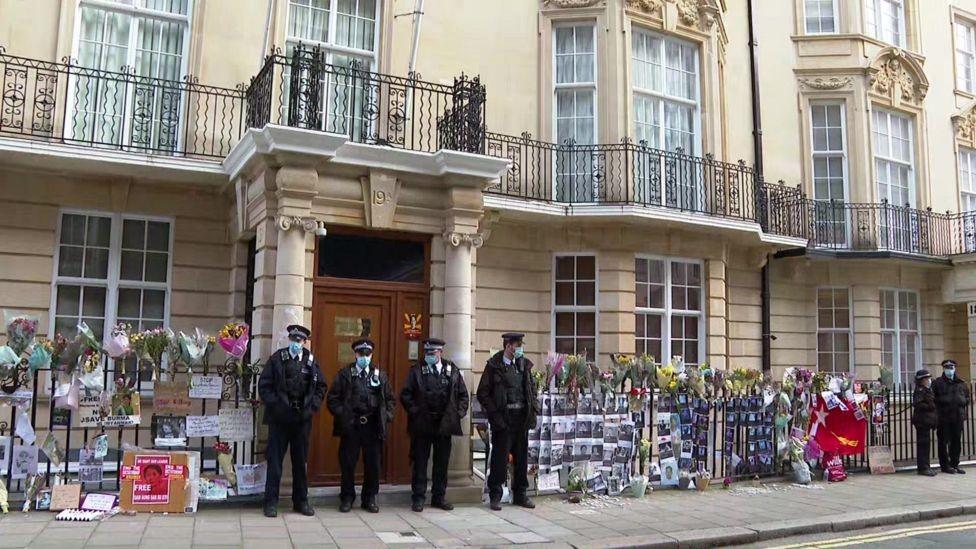 مبنى سفارة ميانمار في لندن.