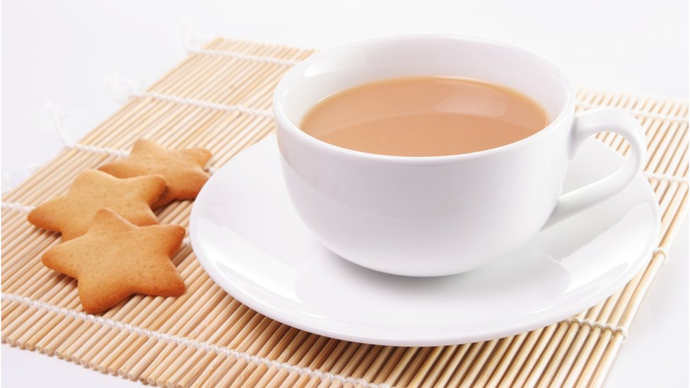 A cup of tea and biscuits