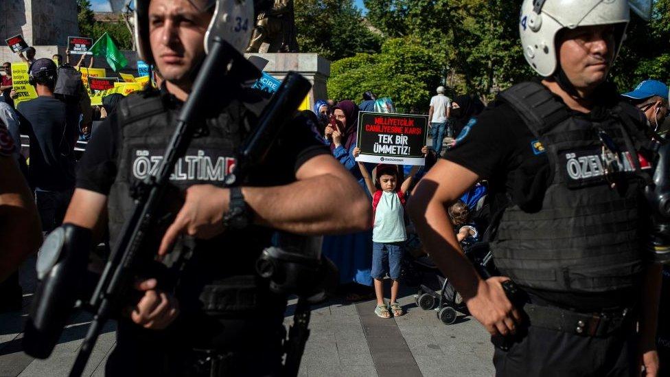 İstanbul'da Suriyelilere destek eylemi