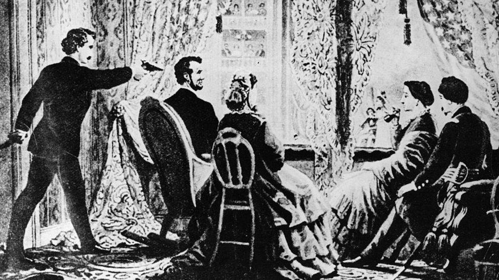 NO USAR. BBC. Ilustración del atentado contra Lincoln.