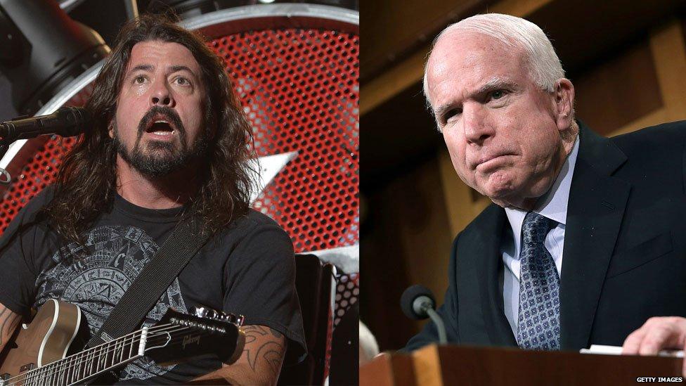 Foo Fighters vs John McCain