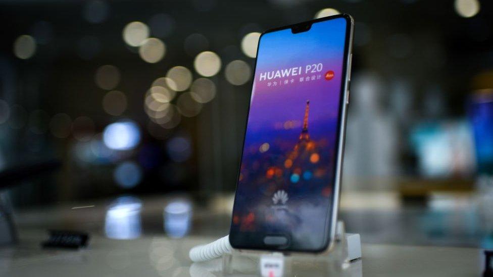 Teléfono Huawei.