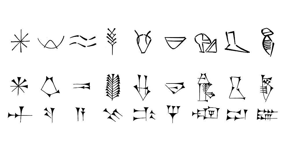 Evolución de signos cuneiformes