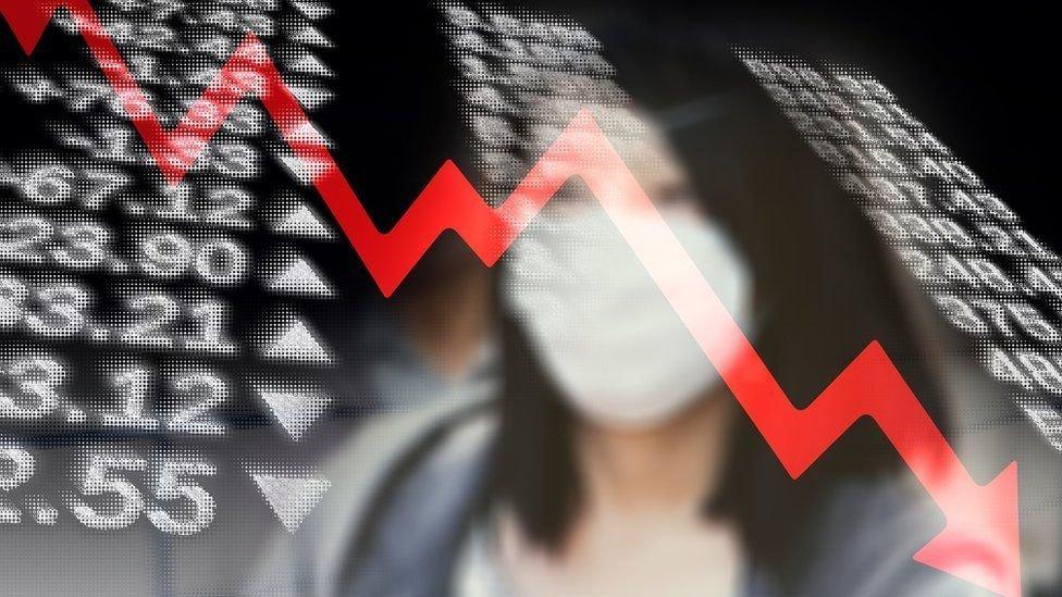 Indicadores económicos en una pantalla