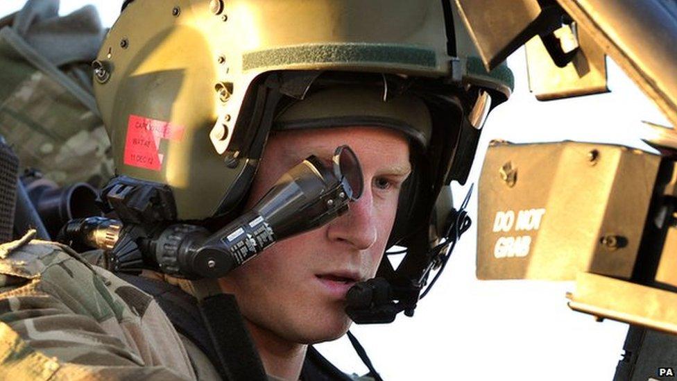 El príncipe Harry en Afghanistan en noviembre de 2012
