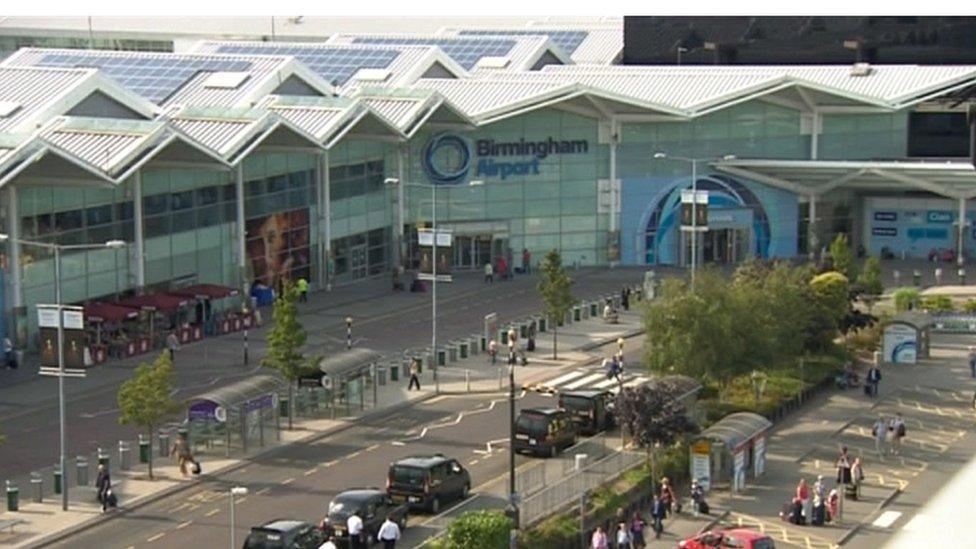 Laser pen attacks on planes landing at Birmingham Airport