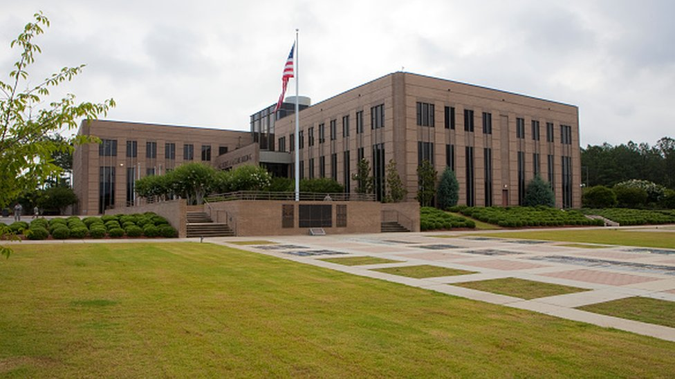 The HQ of the elite Special Forces at Fort Bragg in Fayetteville, North Carolina