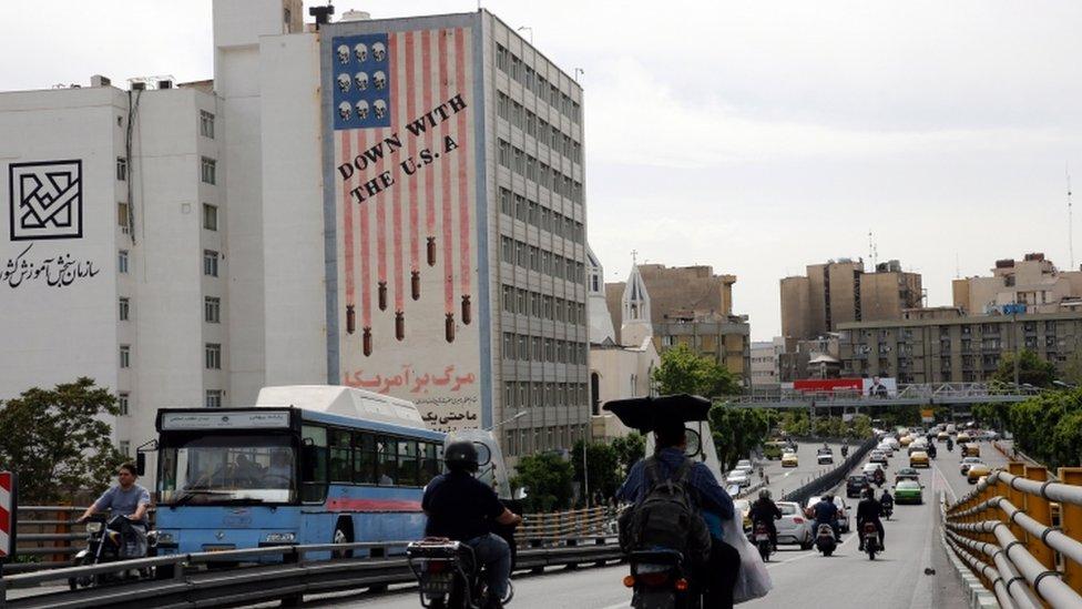 Anti-US mural in Tehran