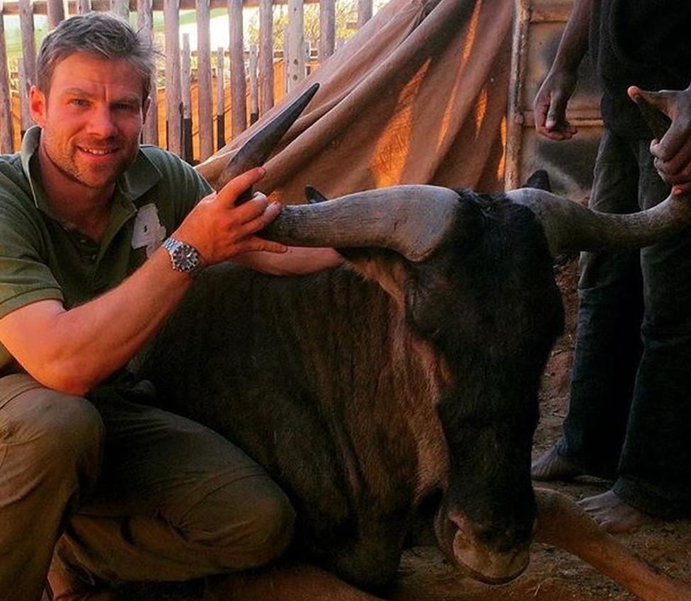 Jonathan Cranstone with wilderbeast
