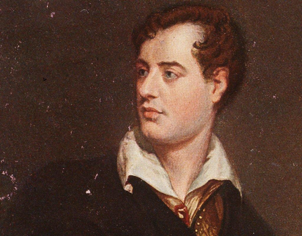 Retrato del poeta Lord Byron