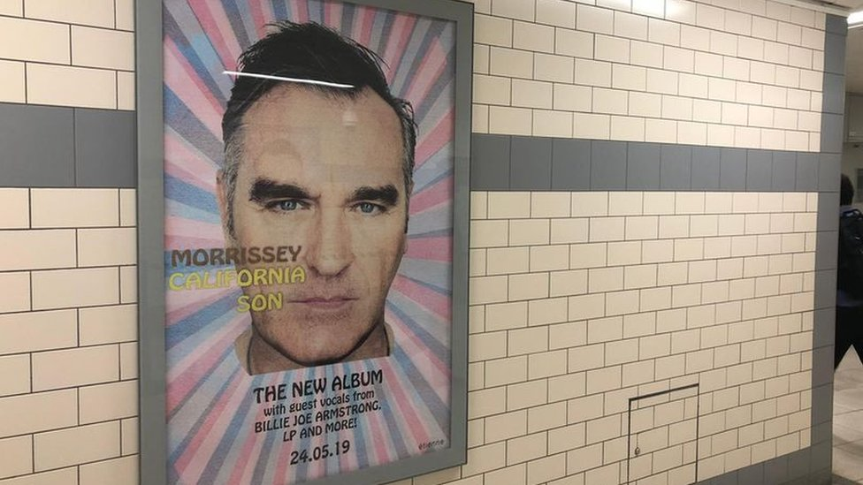 Rail firm removes 'wrong values' Morrissey posters