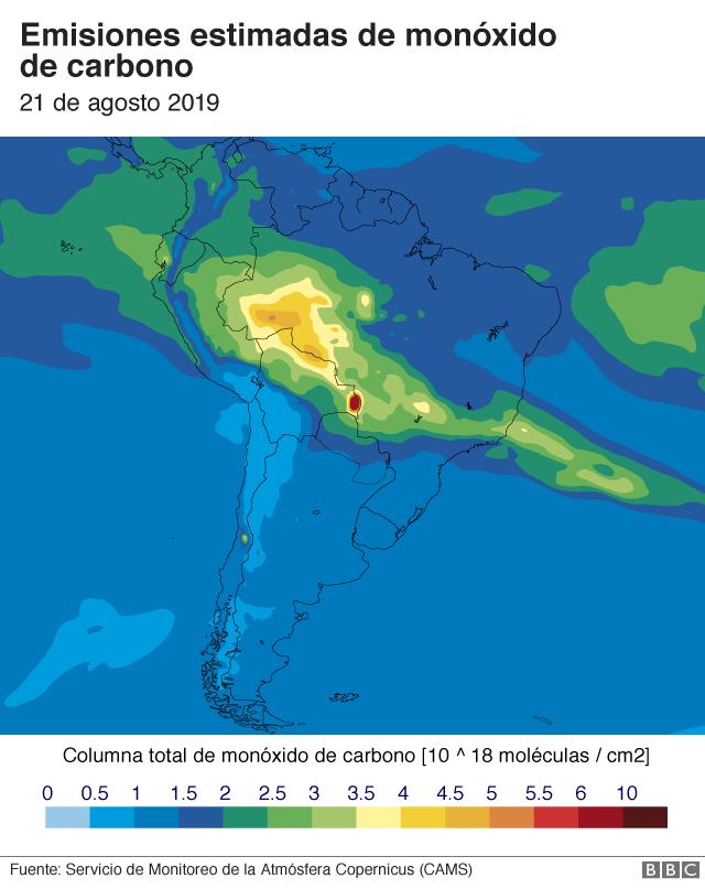 Mapa de emisones de monóxido