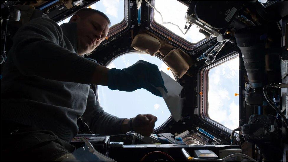 Un módulo de la Estación Espacial Internacional