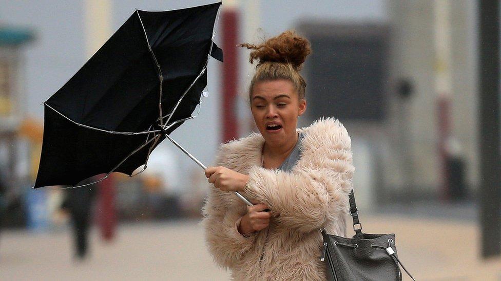 Kišobran na vetru