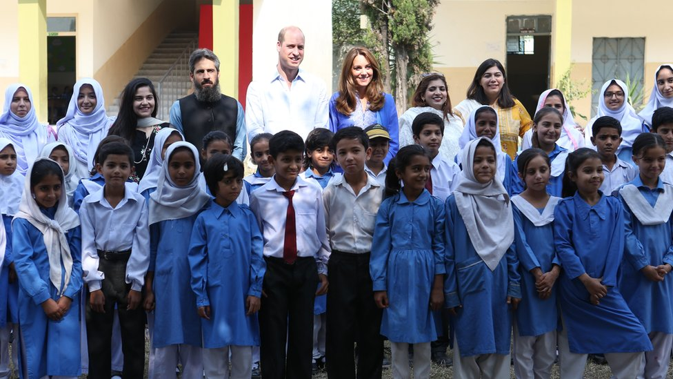 Duke and Duchess of Cambridge arrive at engagement at Islamabad Model College for Girls