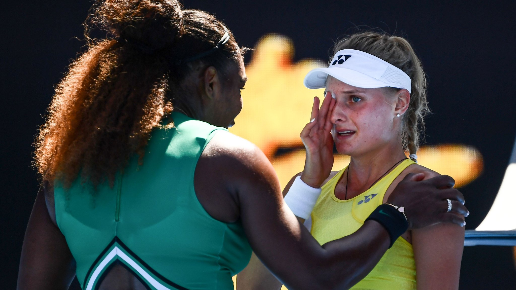 'Don't cry' - Williams comforts teenager after beating her