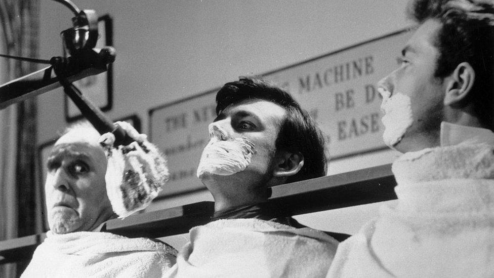 máquina de afeitados en masa