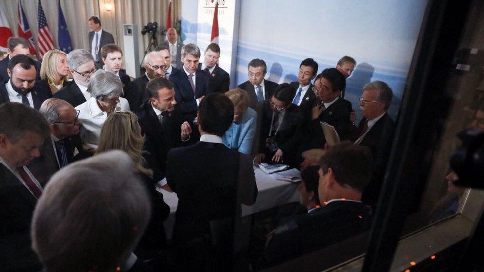 Líderes del G7.