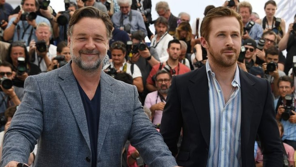 Russell Crowe and Ryan Gosling at the Cannes Film Festival 2016