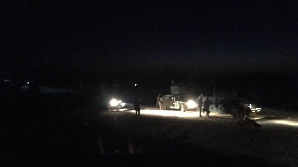 Iraqi armoured vehicles line up near Mosul, 23 February