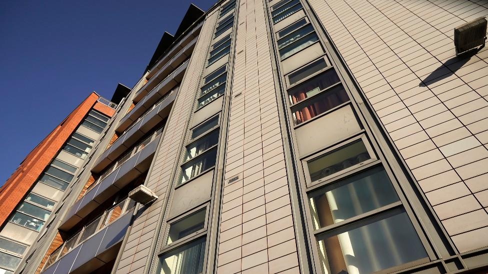 Revestimiento exterior de un edificio